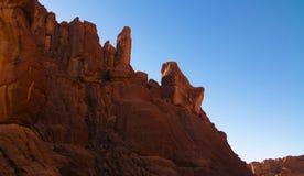 Panorama innerhalb der Schlucht alias Guelta d ?Archei in Ost-Ennedi, Tschad lizenzfreie stockbilder