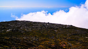 Panorama inside caldera of Pico volcano, Azores, Portugal Royalty Free Stock Image