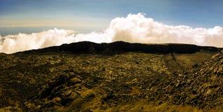 Panorama inside caldera of Pico volcano, Azores, Portugal Stock Photo