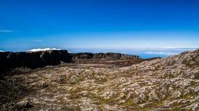 Panorama inside caldera of Pico volcano, Azores, Portugal Stock Photography