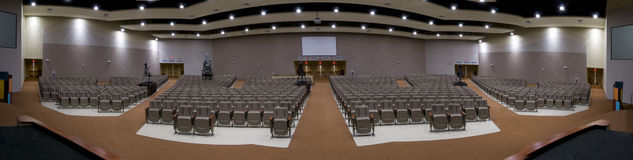 Panorama of Interior of Church Stock Images