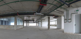 Panorama of interior under construction. Royalty Free Stock Images