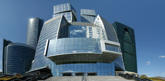 Panorama of the international business centre Stock Photos