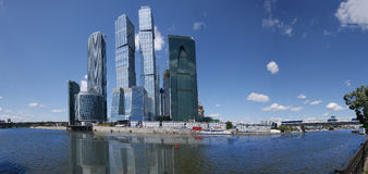 Panorama of the international business centre Stock Images