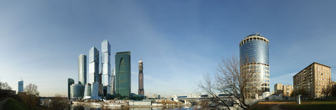 Panorama of the international business centre Royalty Free Stock Photography