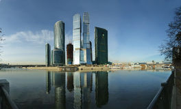 Panorama of the international business centre Stock Image