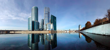 Panorama of the international business centre Stock Photos