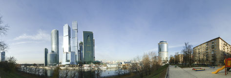 Panorama of the international business centre (City), Moscow Stock Photo