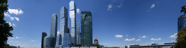Panorama of the international business centre in M Stock Image