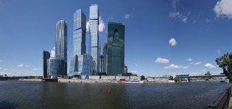 Panorama of the international business centre in M royalty free stock photos