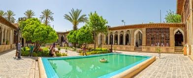 Panorama interno do pátio da casa de Molk do ol de Zinat Imagem de Stock Royalty Free