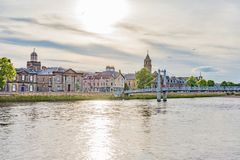 Panorama of the city of Inverness Stock Images