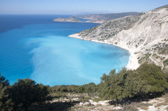 Panorama of Ionian Sea. In Kefalonia - Greece Royalty Free Stock Photos