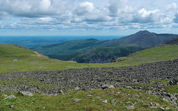 Panorama of Iov plateau from Konzhakovsky Rock Mount, Russia Stock Image