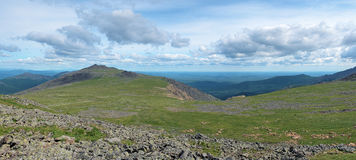 Panorama of Iov plateau, Northern Ural Mountains Stock Image