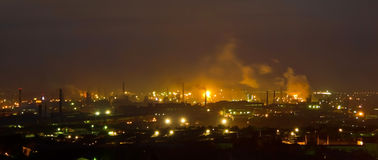 Panorama of iron and steel works Stock Images