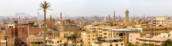 Panorama of Islamic Cairo Stock Images