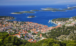 Panorama of island Hvar Stock Photo