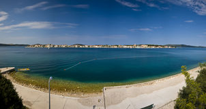 Panorama of island Krapanj Royalty Free Stock Photos