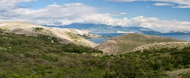 Panorama from the island of Krk Stock Images