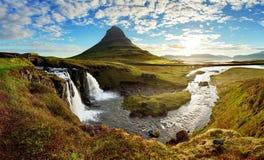 Panorama - Island-Landschaft lizenzfreie stockfotos