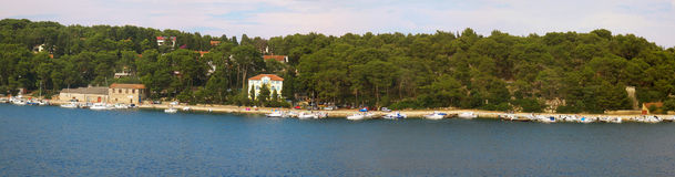 Panorama of island Losinj. Panoramic view of island Losinj, Croatia, Europe Stock Images