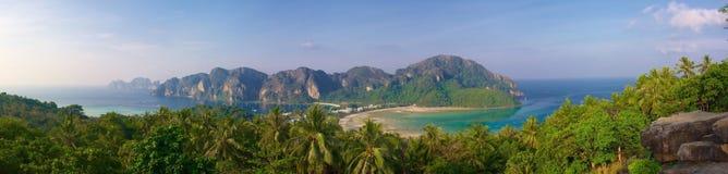 Panorama of the island phi-phi Stock Photo