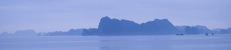 Panorama of Island and Sea Royalty Free Stock Image