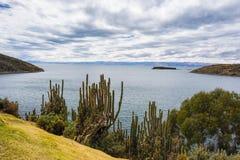 Panorama on Island of the Sun, Titicaca Lake, Bolivia Stock Photo