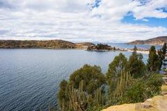 Panorama on Island of the Sun, Titicaca Lake, Bolivia Stock Photography
