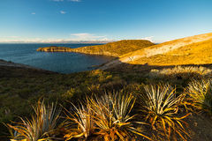 Panorama on Island of the Sun, Titicaca Lake, Bolivia Royalty Free Stock Photo