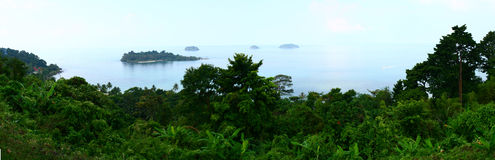 Panorama of island to To Chang in Tailand Stock Image