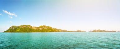 Panorama island under the sunlight Stock Photos