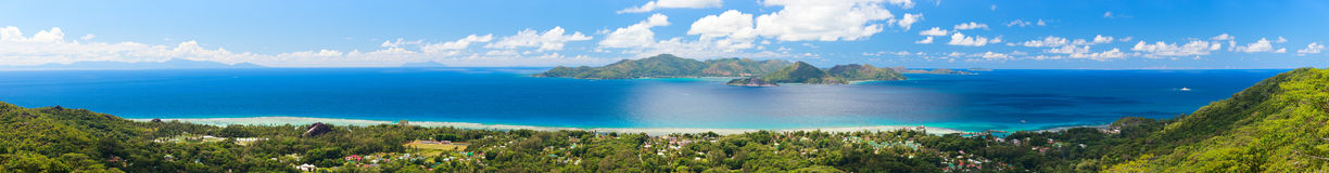 Panorama of islands in Seychelles Stock Photography