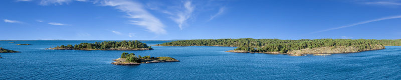 Panorama of islands in Sweden. Royalty Free Stock Photos
