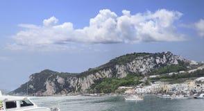 Panorama of the Isle of Capri Stock Photos