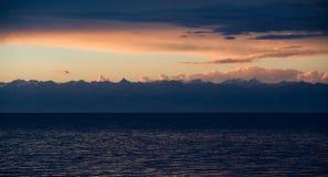 Panorama of Issyk-Kul lake, Kirgizia Stock Photo