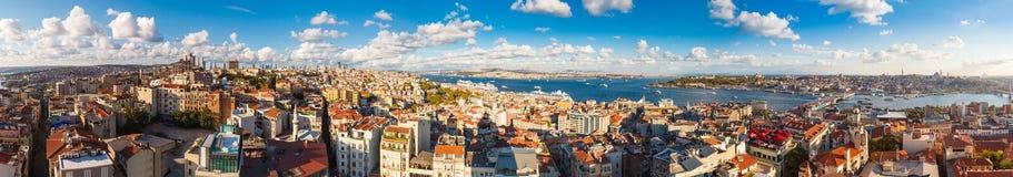 Panorama in Istanboel, Turkije Stock Foto