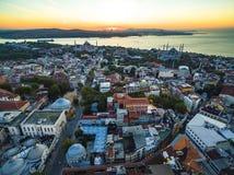 Panorama Istanbuł od ptasiego ` s oka widoku Zdjęcia Royalty Free