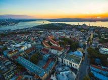 Panorama Istanbuł od ptasiego ` s oka widoku Obraz Royalty Free