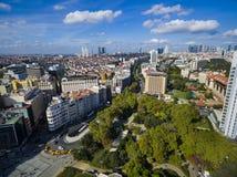 Panorama Istanbuł od ptasiego ` s oka widoku Obrazy Royalty Free