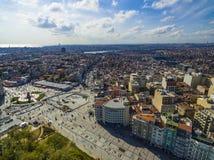 Panorama Istanbuł od ptasiego ` s oka widoku Zdjęcia Stock