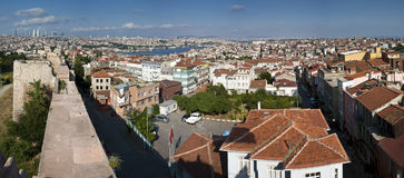 Panorama of Istanbul Stock Photography