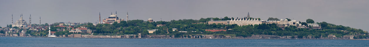 Panorama of Istanbul Royalty Free Stock Photos