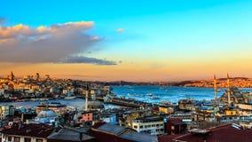 panorama- istanbul arkivbild