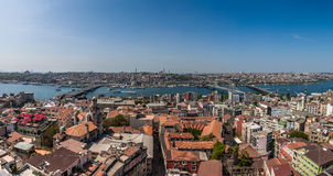Panorama of Istanbul and Bosphorus Stock Photos