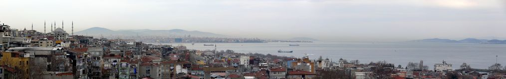 Panorama of Istanbul city Stock Images