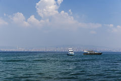 Panorama of Istanbul from the Marmara Sea Royalty Free Stock Photography