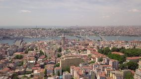 Panorama of Istanbul. Biggest city in Turkey. Aerial view stock video footage