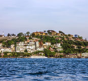 Panorama of Istanbul seafront, Turkey. Royalty Free Stock Photography